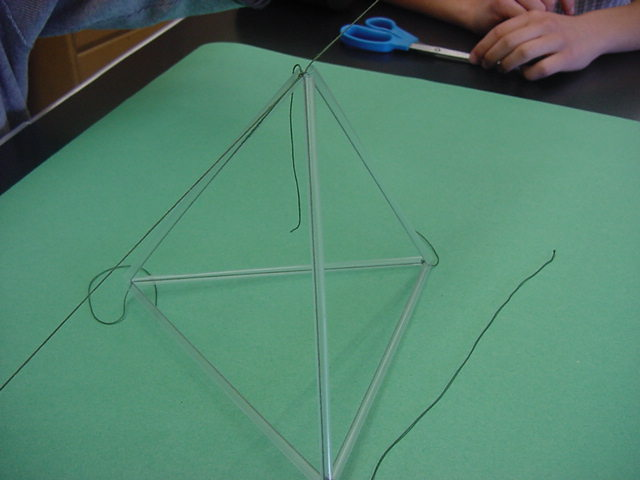 Materials list tie that string to the opposite end of the diamond to form a tetrahedron make sure the joints are tight and leave the excess string for later maxwellsz